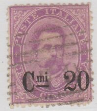 (IT34) 1890 Italy 20c on 50c Mauve Surcharge ow46