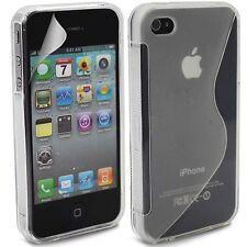 Cover Custodia Per iPhone 4 / 4S in Silicone Gel S-Line + Pellicola Display