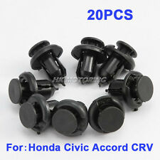 20pcs Plastic Rivet Fastener Bumper Push Retainer For Honda Civic 1997 1998-2010