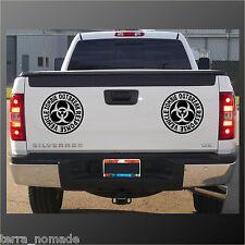 Big Zombie Outbreak Sticker, 4x4, Bumper Zombie Hunters JEEP Land Rover x 2 20cm