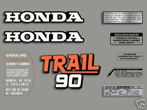 1978 Honda CT90 Trail - 9 pc. decal set
