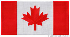 Large Canada Flag Patch embroidered iron-on Canadian Maple Leaf applique