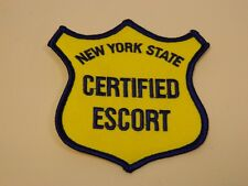 NY State Certified Escort Patch (Iron / Sew On) (Oversize Load) USA / NEW
