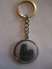 Porte-clés en métal - chien CANICHE noir