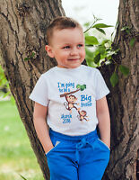 Big brother monkeys Personalised Baby Vest or tshirt Pregnancy announcement