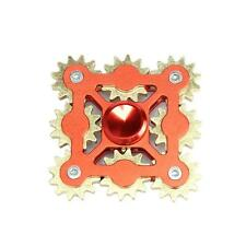 RED 9 GEARS LINKAGE FINGER SPINNER EDC HAND SPINNER KID ADULT STRESS RELIEF NEW