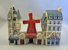NEW J CARLTON BY GAULT FRENCH MINIATURE PARIS BUILDING SET OF 3 MOULIN ROUGE