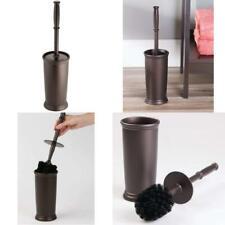 Mdesign Compact Freestanding Plastic Toilet Bowl Brush And Holder For Bathroom S