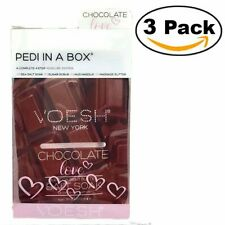 Voesh Pedi In A Box 4 Step System Chocolate Love + Cocoa Seed Butter (Pack Of 3)