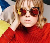 FENDI Sunglasses FF 0177/S 001/OJ 53-22-135 OCCHIALI DA SOLE ORIGINALI Gold