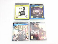 Wonderbook Book of Spells Bad Company Medal Honor Warfighter Bioshock PS3 Bundle
