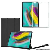 Coque Smart Noir pour Samsung Galaxy Tab S5e T720 T725 + Vitre de protection