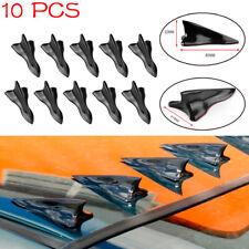 10Pcs Universal EVO-Style PP Roof Shark Fins Spoiler Wing Vortex Generator UV