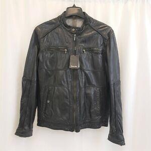 MASSIMO DUTTI - Sheepskin Leather Jacket - Men's XL 42 - Tags