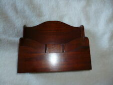 Old Vintage Mahogany Victorian Style Letter Rack Libra Company Cambridge