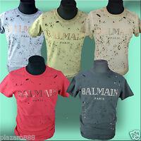 BNWT BALMAIN PARIS NEW COLLECTION'17 IN 5 COLOURS  T-SHIRT,SIZE- S,M,L,XL,XXL