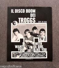 R473 - Advertising Pubblicità -1966- THE TROGGS , IL DISCO BOOM