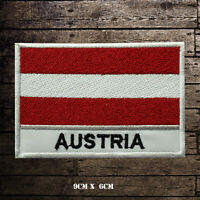 AUSTRIA Flag With Name Embroidered Iron On Sew On Patch Badge For Clothes Etc