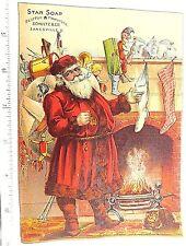 1870's-80's Fabulous Santa Claus Toys Fireplace Cat Star Soap Zanesville, OH  #W