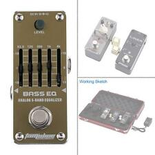 AROMA Bass EQ Analog 5-Band Equalizer Electric Guitar Effect Pedal J3O9