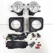 For 2014-2017 Toyota Tundra Clear Fog Driving Light Set w/Bezel Wires Pair Truck