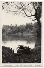 Uruguay; Montevideo, Rowing Boat on Park Rodo Lake RP PPC, Unposted, 1947
