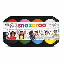 SNAZAROO Face Paint Palette NEW 8 Colors Make Up Kit 8x18mL Childrens
