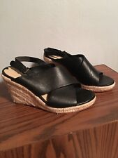 Via Spiga Black Wedge Sandals 8.5