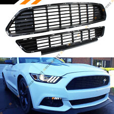 For 2015-17 Ford Mustang Blk California Edition Front Bumper Upper + Lower Grill
