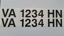 boat numbers  (2) 12 YR. VINYL! Custom made for You! 3in. FREE SAME DAY SHIPPING