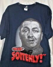 THREE STOOGES CURLY WHY SOITENLY T SHIRT LARGE MEDIUM W/ TAGS