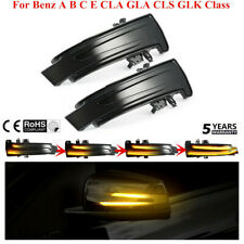 Pair Dynamic LED Side Mirror Turn Signal Light For Benz A B C E CLA GLA CLS GLK