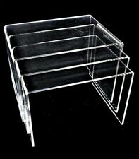 Large Clear Acrylic Riser Display Set Jewelry Showcase Fixtures Display Set Of 3