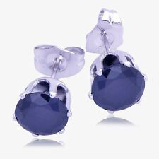 14K Womens Mens Cute Gemstone Kids Silver Black Stud Earrings Gold Filled