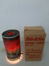Vintage 1956 L.A. Goodman Forest Fire Motion Lamp Clean With Original Box UP