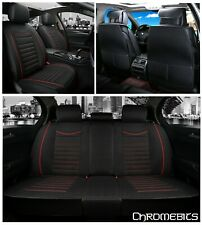Deluxe Black Soft Fabric Full set Seat Covers For Porsche Panamera Cayenne Macan