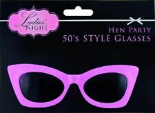 Ladies Glasses Pink 50'S 1950 GREASE SANDY ROCK & ROLL COSTUME Hen party fun