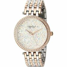 Caravelle New York Women's 45L166 Swarovski Crystal Two Tone Watch
