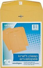 "9""X12"" Kraft Clasp Envelopes"