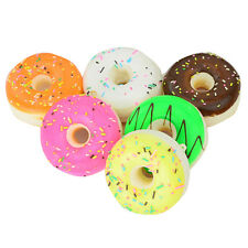 Squishy Shredded Coconut Donut Bread Food Key/Bag/Cell Phone Charm Straps Decor