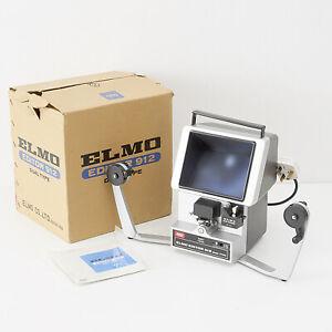 ELMO CINE FILM EDITOR 912 DUAL TYPE WITH MATT SCREEN + FILM CLEANER, BOX, MANUAL