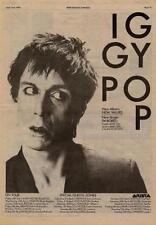 Iggy Pop New Values UK Tour advert 1979