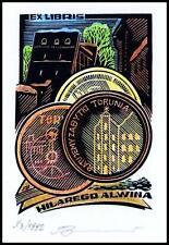 Leonenko Vasyl 1992 Exlibris X3 Architecture Numismatics Coins Munzen Toruń 484x