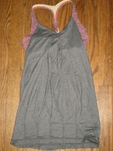 Womens XS lululemon activewear tank top built in sports bra racerback sleeveless