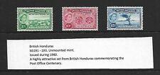 1960 BRITISH HONDURAS POST OFFICE CENTENARY MNH U/M - SUPERB