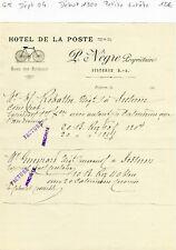 Dépt 04 - Sisteron - Petite Entête d'un Hôtel Début des Années 1900