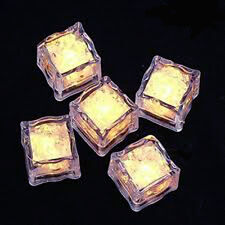 10 LED Ice Cube Light Warm White battery table centrepiece cocktail drink vase