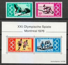 Germany 1976 MNH Mi 886-887+Block 12 Sc B530-B532 a-b Olympic Games, Montreal **