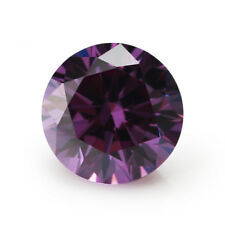 Purple Sapphire 1.46Ct 6MM Round Cut AAAAA VVS Loose Gemstone
