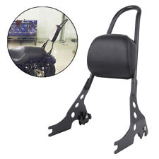 Passenger Backrest Pad Sissy Bar Cushion For Harley Sportster XL 883 1200 Black